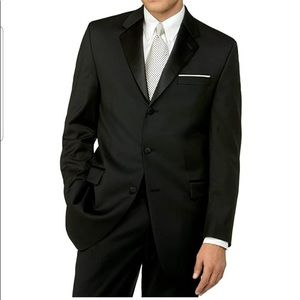 Calvin Klein Men's X-Fit Black Tuxedo Suit Sz42/44